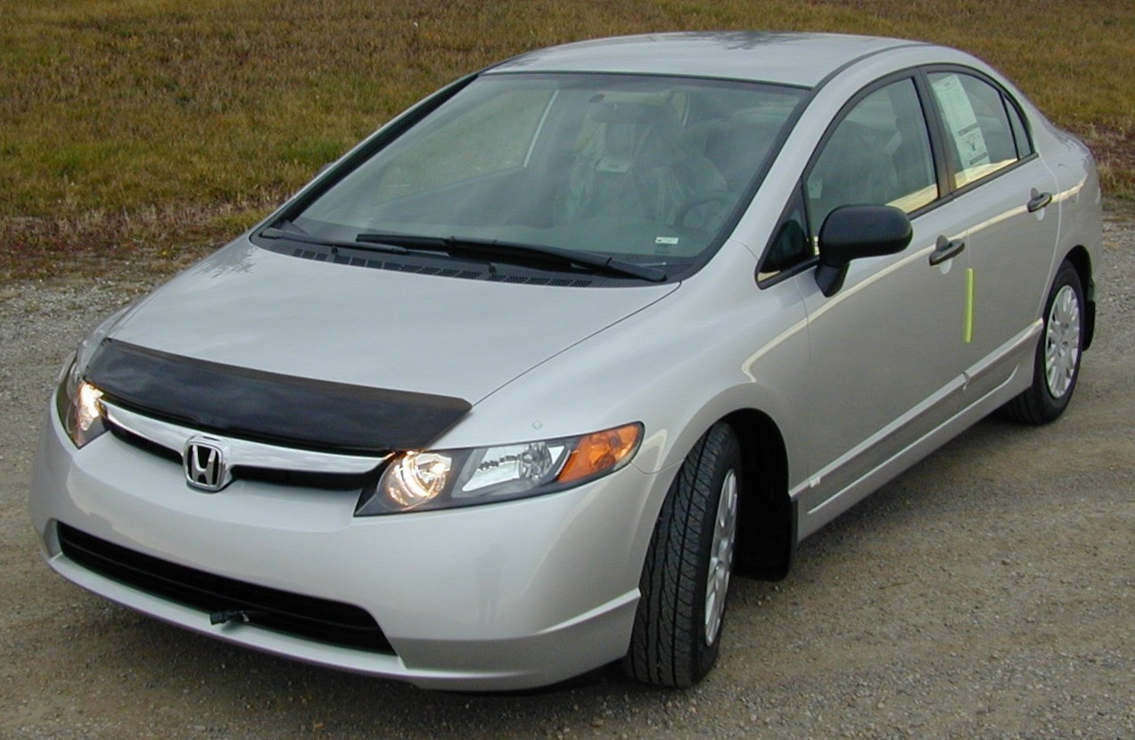 honda civic 4 door 2006 2011 hood protectors. Black Bedroom Furniture Sets. Home Design Ideas
