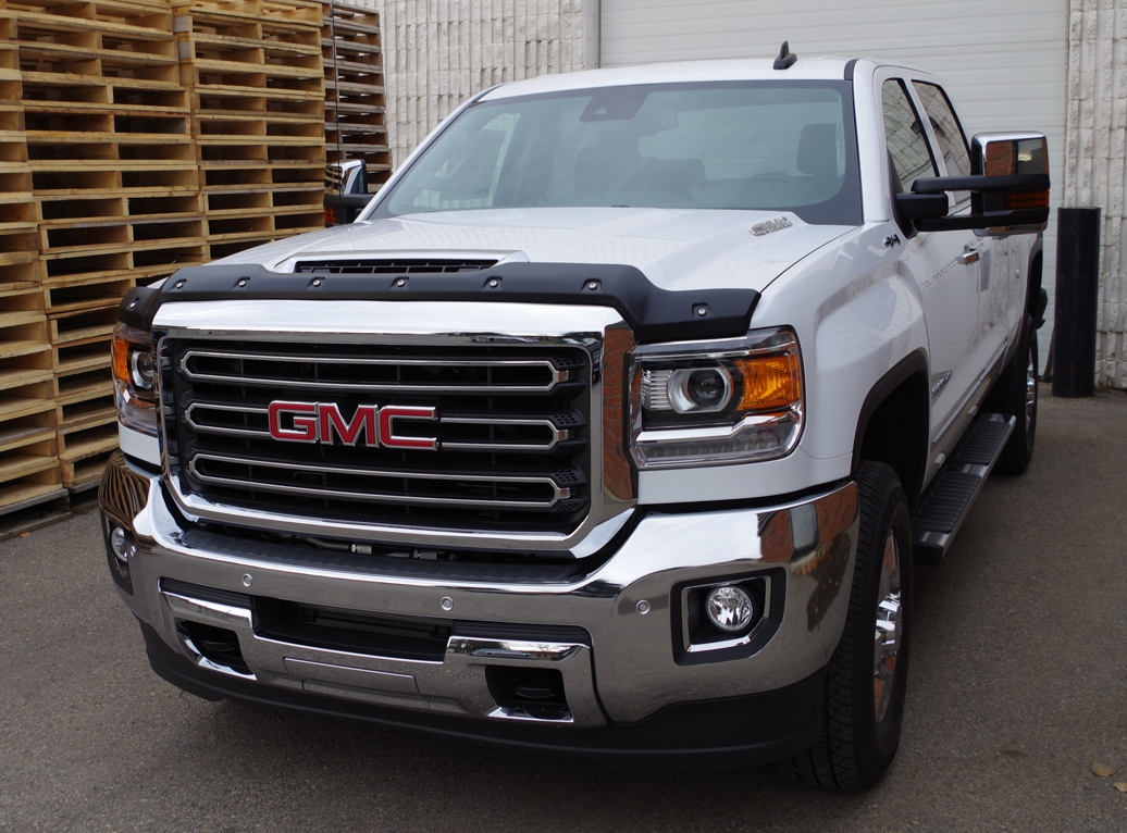 gmc sierra hd 2500 3500 diesel model 2017 up tough guard hood protector hood protectors. Black Bedroom Furniture Sets. Home Design Ideas